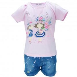 Παιδικό Σετ-Σύνολο Εβίτα 186261 Ροζ Κορίτσι