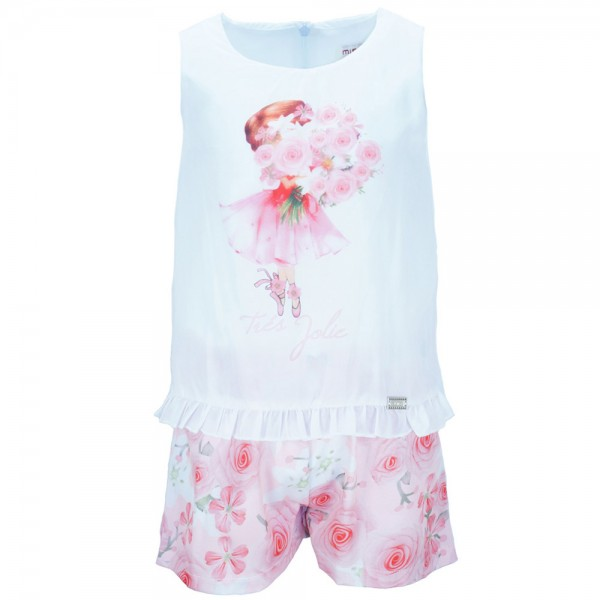 970cc14429a Παιδική Ολόσωμη Φόρμα Εβίτα 186250 Λευκό Κορίτσι