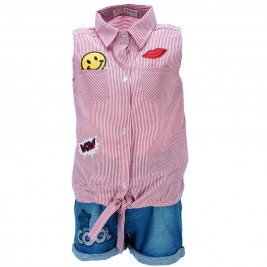 Παιδικό Σετ-Σύνολο Εβίτα 186060 Ριγέ Κόκκινο Κορίτσι