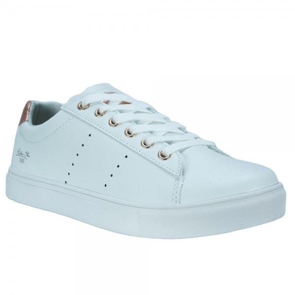Γυναικεία Sneakers Exe 032 Λευκό Μπρονζέ