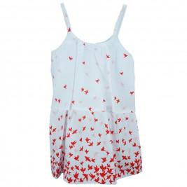 Παιδικό Φόρεμα NCollege 28-762 Λευκό Κορίτσι