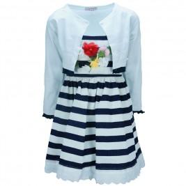 Παιδικό Φόρεμα Εβίτα 186228 Ριγέ Κορίτσι