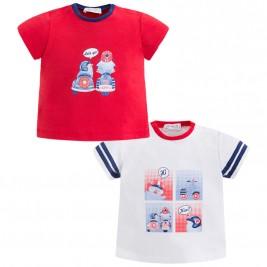 Βρεφικό Σετ Μπλούζες Mayoral 1004-018 Κόκκινο Αγόρι