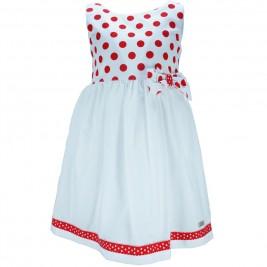 Παιδικό Φόρεμα M&B 8805 Κόκκινο Πουά Κορίτσι