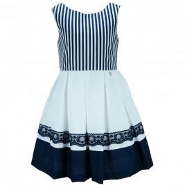 Παιδικό Φόρεμα M&B 8903 Ριγέ Κορίτσι