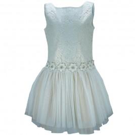 Παιδικό Φόρεμα M&B 8927 Εκρού Κορίτσι
