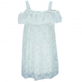 Παιδικό Φόρεμα M&B 8813 Εκρού Κορίτσι
