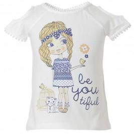 Παιδική Μπλούζα Energiers 15-218310-5 Λευκό Κορίτσι