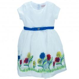 Παιδικό Φόρεμα Εβίτα 186226 Λευκό Κορίτσι