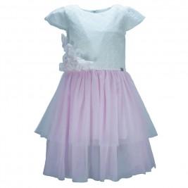 Παιδικό Φόρεμα Εβίτα 186231 Λευκό Ροζ Κορίτσι