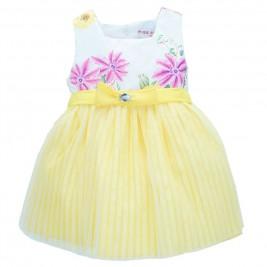 Βρεφικό Φόρεμα Εβίτα 186514 Κίτρινο Κορίτσι