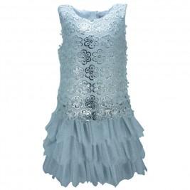 Παιδικό Φόρεμα Εβίτα 186013 Ασημί Κορίτσι