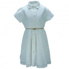 Παιδικό Φόρεμα NCollege 28-7068 Εκρού Κορίτσι