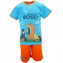 Παιδική Πυτζάμα Dreams 18104 Σιέλ Πορτοκαλί Αγόρι