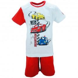 Παιδική Πυτζάμα Dreams 18106 Λευκό Κόκκινο Αγόρι