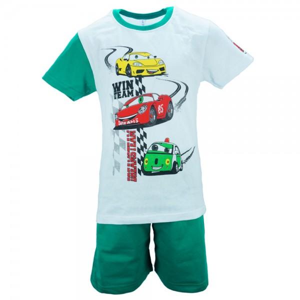 Παιδική Πυτζάμα Dreams 18106 Λευκό Πράσινο Αγόρι 0e51e258a56