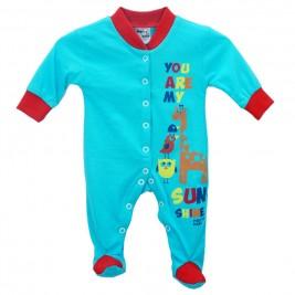 Βρεφική Πυτζάμα Pretty Baby 32844 Τυρκουάζ Κόκκινο Αγόρι