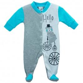 Βρεφική Πυτζάμα Pretty Baby 32864-0-351 Μελανζέ Τυρκουάζ Αγόρι