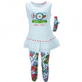 Παιδικό Σετ-Σύνολο Εβίτα 186248 Λευκό Κορίτσι
