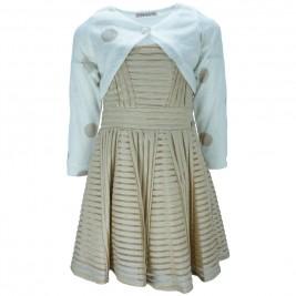 Παιδικό Φόρεμα Εβίτα 186015 Χρυσό Κορίτσι