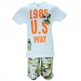 Παιδικό Σετ-Σύνολο Joyce 8175 Λευκό Αγόρι