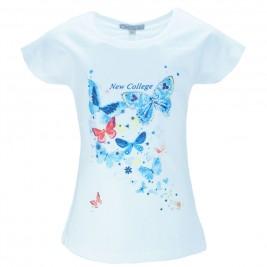 Παιδική Μπλούζα NCollege 28-979 Λευκό Κορίτσι