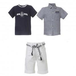 Βρεφικό Σετ-Σύνολο Boutique 41-218480-0 Λευκό Αγόρι