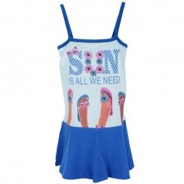 Παιδικό Φόρεμα Trax 34106 Λευκό Κορίτσι