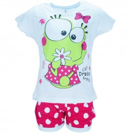 Παιδική Πυτζάμα Dreams 18205 Λευκό Φούξια Κορίτσι