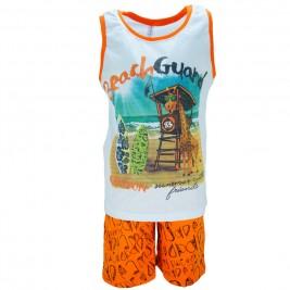 Παιδική Πυτζάμα Dreams 18112 Λευκό Πορτοκαλί  Αγόρι