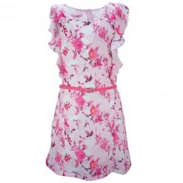 Παιδικό Φόρεμα NCollege 28-7075 Ροζ Εμπριμέ Κορίτσι