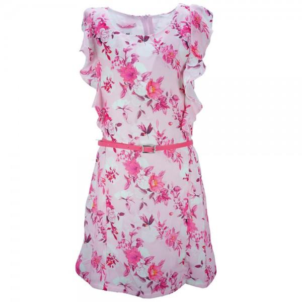 cb932dce443 Παιδικό Φόρεμα NCollege 28-7075 Ροζ Εμπριμέ Κορίτσι