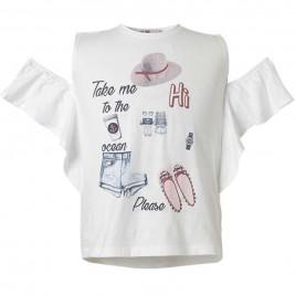 Παιδική Μπλουζα Energiers 16-218217-5 Λευκό Κορίτσι