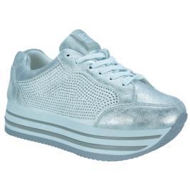 Γυναικείο Sneaker Bass3D 41503 Ασημί