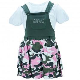 Παιδικό Φόρεμα Joyce 8085 Χακί Παραλλαγή Κορίτσι