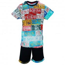 Παιδικό Σετ-Σύνολο Joyce 8379 Μαύρο Εμπριμέ Αγόρι