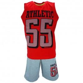 Παιδικό Σετ-Σύνολο Amaretto A1881 Κόκκινο Αγόρι