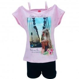 Παιδικό Σετ-Σύνολο Joyce 84405 Ροζ Κορίτσι