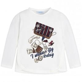 Παιδική Μπλούζα Mayoral 4056-022 Εκρού Κορίτσι