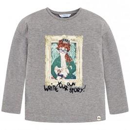 Παιδική Μπλούζα Mayoral 4062-047 Γκρι Κορίτσι