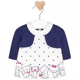 Βρεφικό Φόρεμα Mayoral 2818-040 Μπλε Κορίτσι