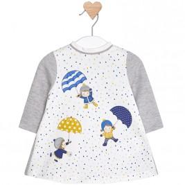 Βρεφικό Φόρεμα Mayoral 2866-084 Γκρι Κορίτσι