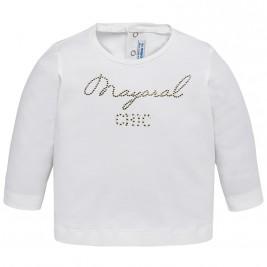 Βρεφική Μπλούζα Mayoral 116-038 Εκρού Κορίτσι