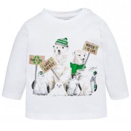 Βρεφική Μπλούζα Mayoral 2022-061 Λευκό Αγόρι