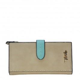 Γυναικείο Πορτοφόλι Verde 18-0000887 Μπεζ