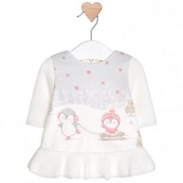 Βρεφικό Φόρεμα Mayoral 2812-092 Εκρού Κορίτσι