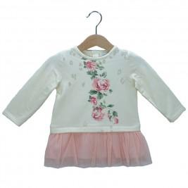 Βρεφικό Φόρεμα Εβίτα 187503 Εκρού Κορίτσι