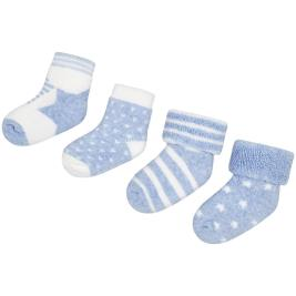 Βρεφικές Κάλτσες Σετ Mayoral 9892-010 Σιέλ Αγόρι