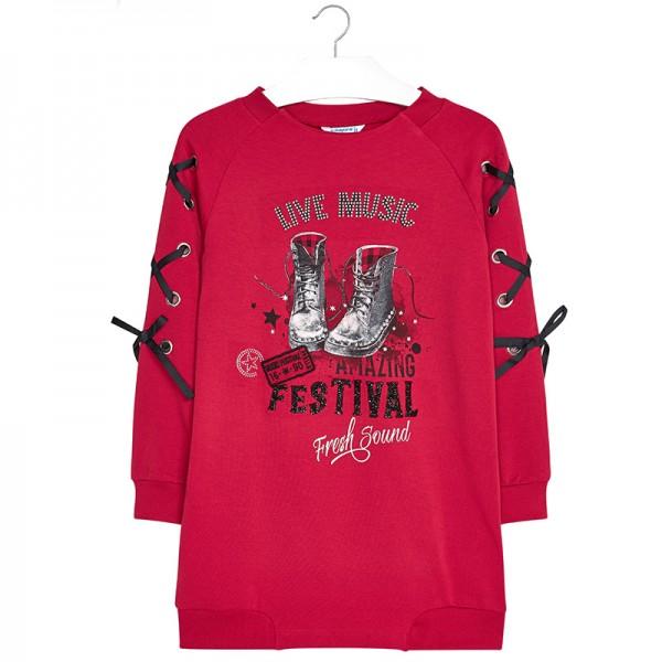 28c9fee77a4 Παιδικό Φόρεμα Mayoral 18-07958-093 Κόκκινο Κορίτσι