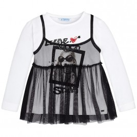 de8d3931e67 Παιδική Μπλούζα Mayoral 4052-038 Μαύρο Κορίτσι
